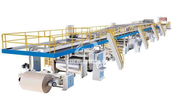 三层瓦楞纸板生产线