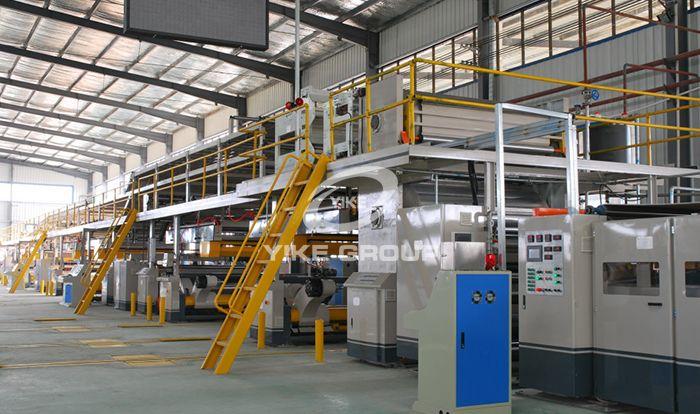 五层全自动瓦楞纸板生产线